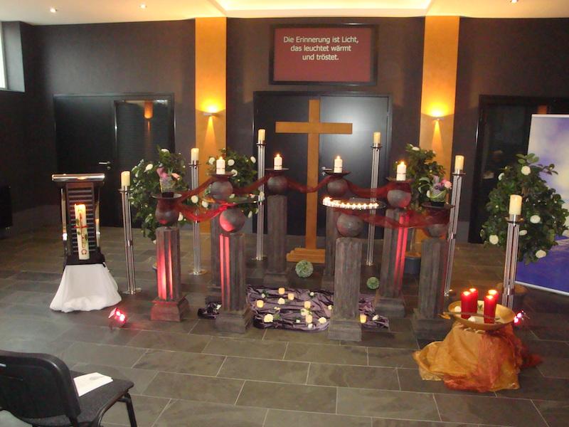 Traditionelle Gedenkfeier in unserer Hauskapelle